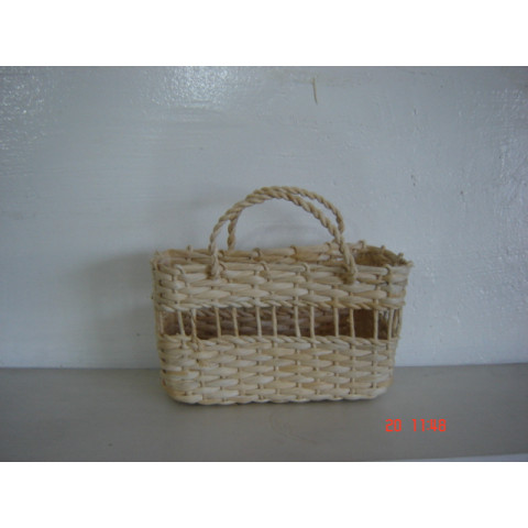 Bolsa ou Sacola de palha mini n. 02 22x9x15 altura