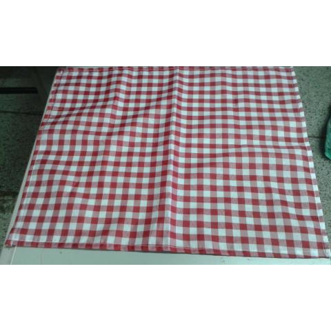 Toalha (toalhinha)30x43 xadrez vermelha