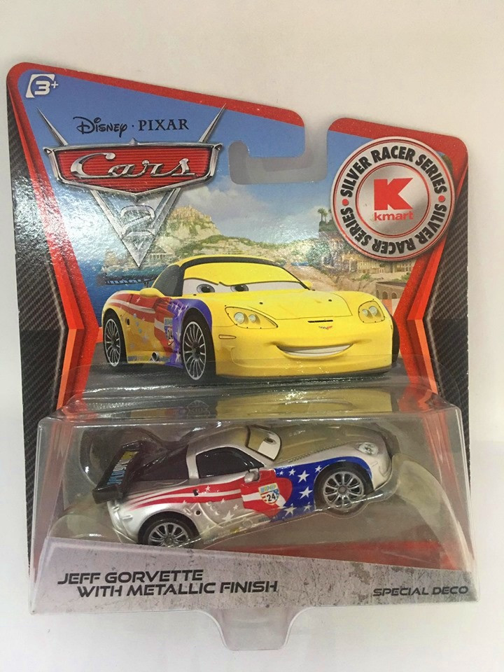 Disney Cars - Jeff Gorvette With Metallic Finish - Exclusivo Kmart - Cars 2