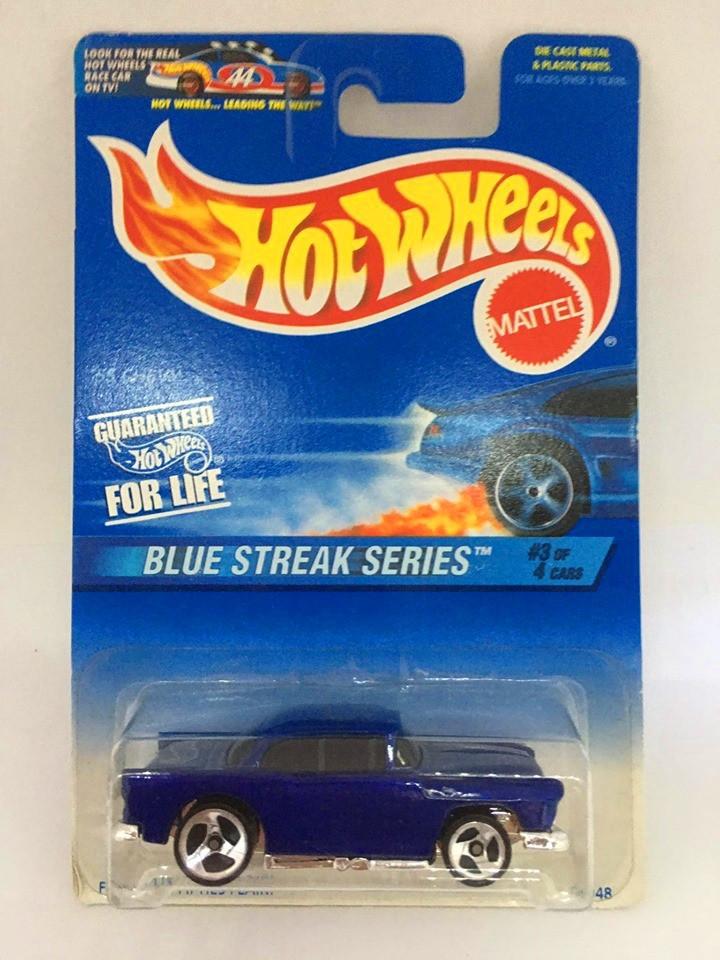 Hot Wheels - 55 Chevy Azul - Mainline 1997