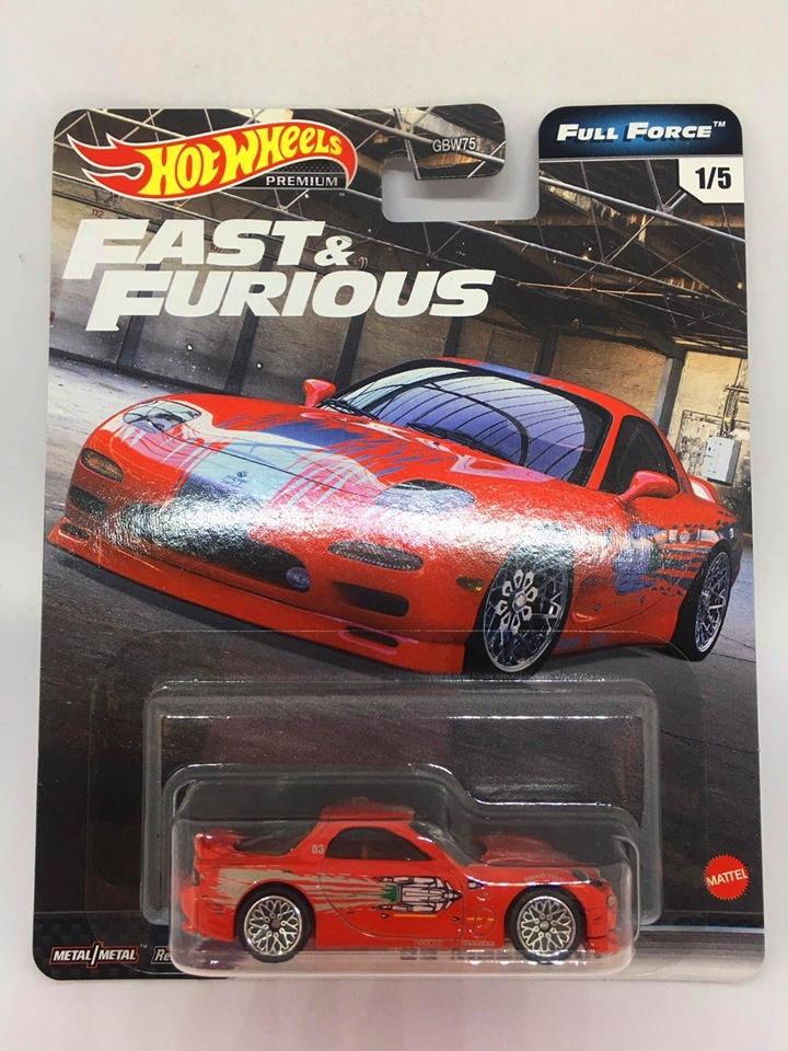 Hot Wheels - 95 Mazda RX-7 Vermelho - Full Force - Fast e Furious - Velozes e Furiosos