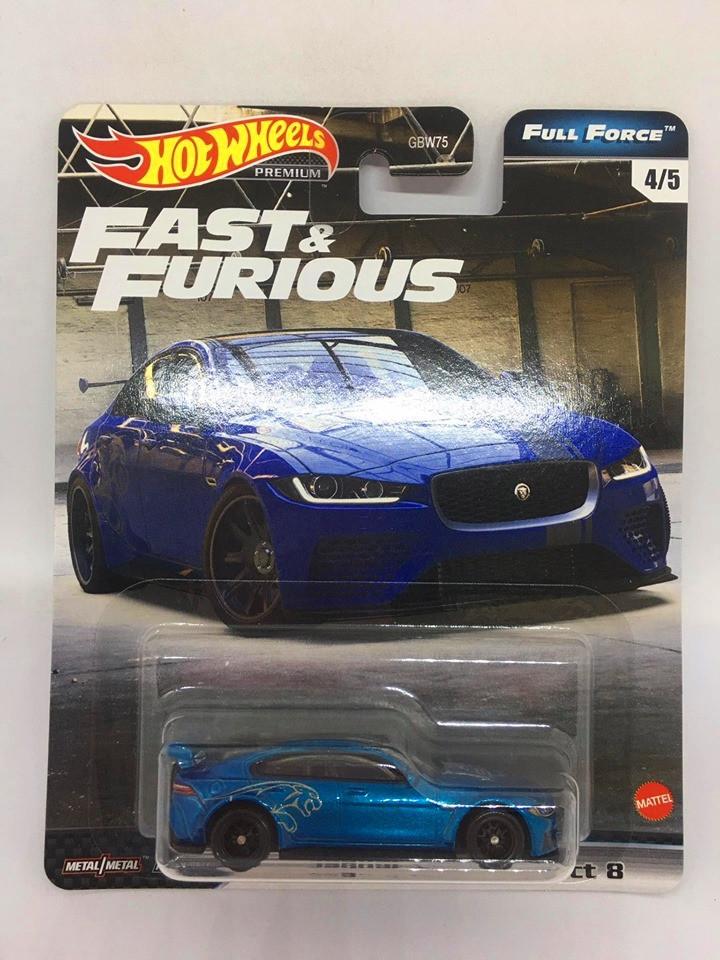 Hot Wheels - Jaguar XE SV Project 8 Azul - Full Force - Fast e Furious - Velozes e Furiosos