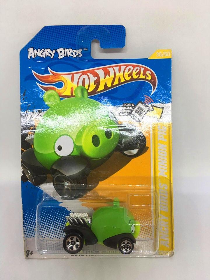 Hot Wheels - Angry Birds Minion Pig Verde - Mainline 2012