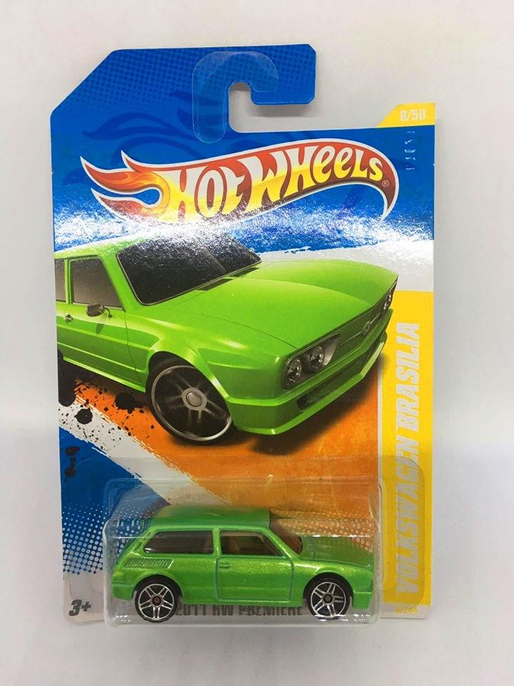 Hot Wheels - Volkswagen Brasilia Verde - Mainline 2011