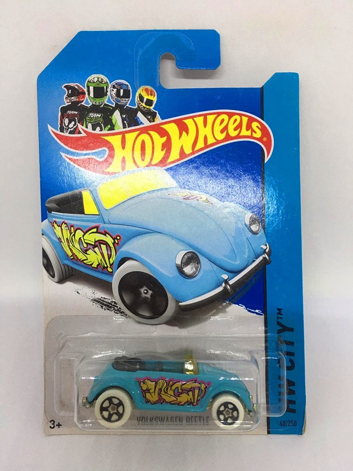 Hot Wheels - Volkswagen Beetle Azul - Mainline 2014