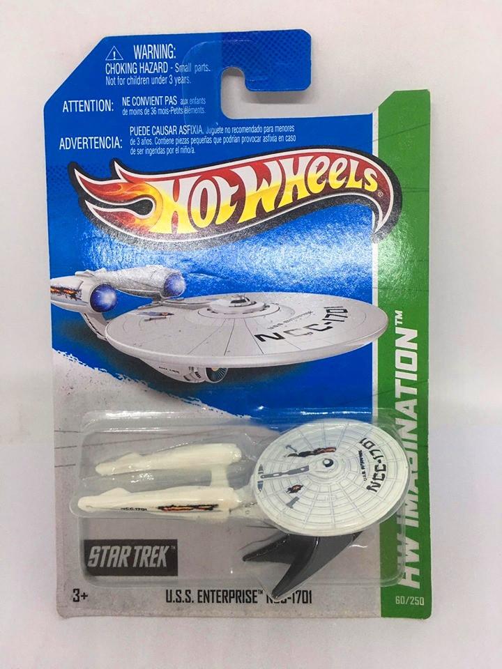 Hot Wheels - U.S.S. Enterprise NCC-1701 Branca - Mainline 2013 - Variação de Batalha