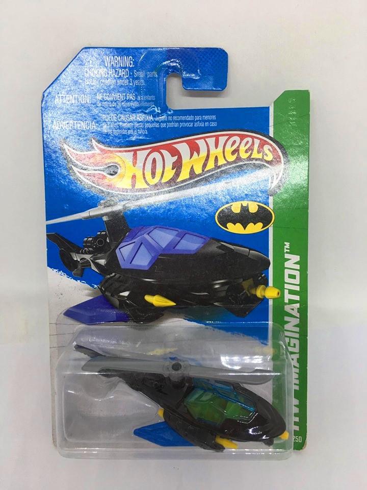Hot Wheels - Batcopter Preto - Mainline 2013