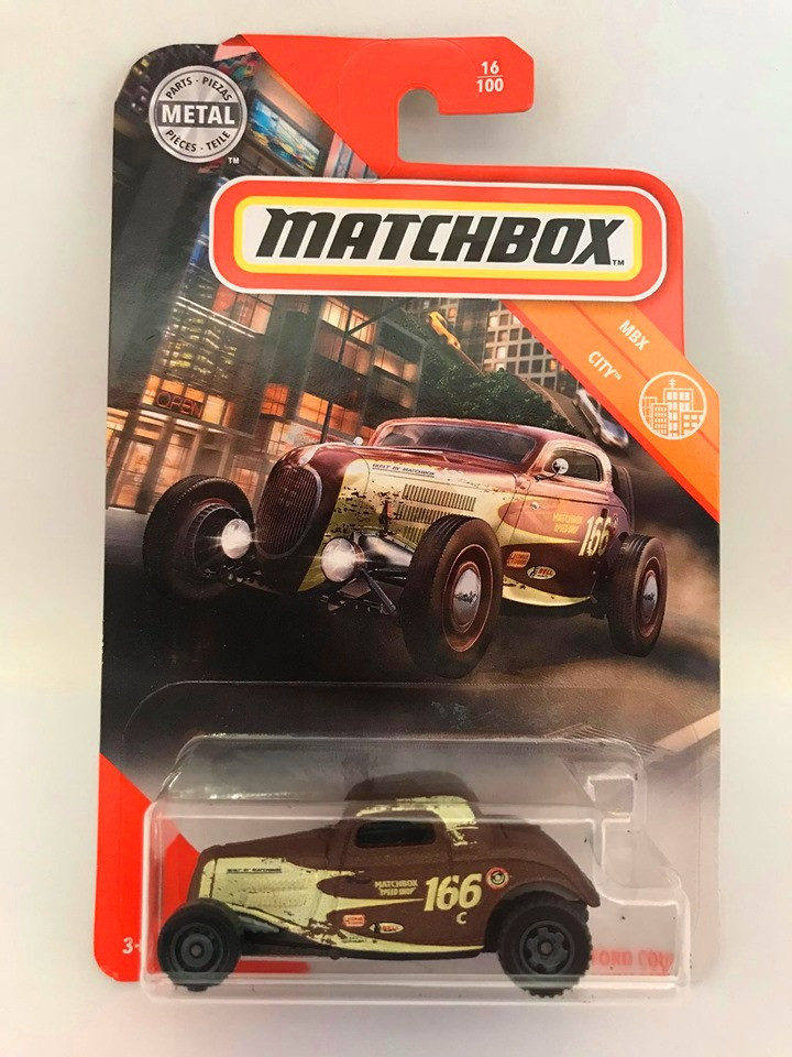 Matchbox - 33 Ford Coupe Marrom - Mbx City 2020
