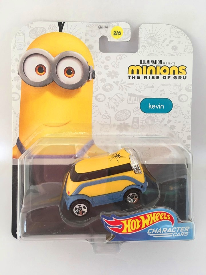 Hot Wheels - Kevin - Illumination Presents Minions The Rise Of Gru - Character Cars