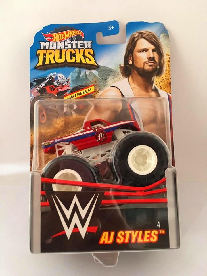 Hot Wheels - Aj Styles Vermelho - Giant Wheels - Monster Trucks