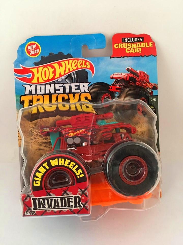 Hot Wheels - Invader Vermelho - Giant Wheels - Monster Trucks