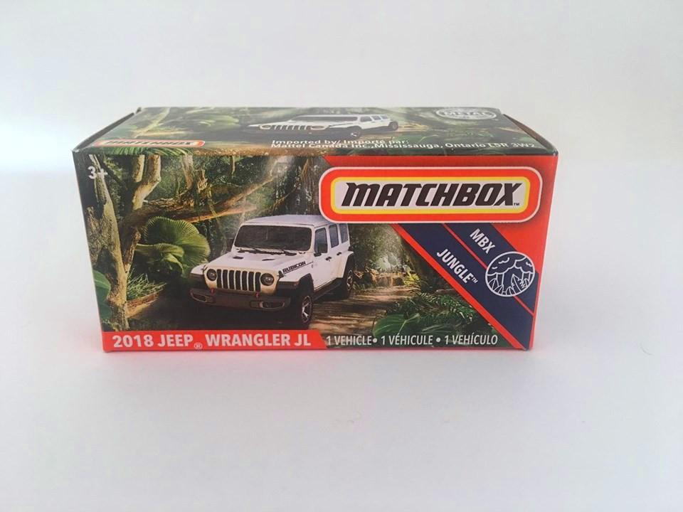 Matchbox - 2018 Jeep Wrangler Jl Branco - Power Grabs - Básico 2020