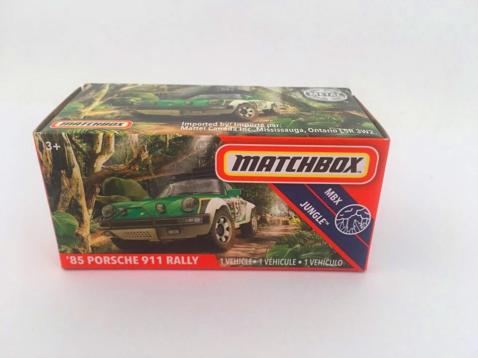 Matchbox - 85 Porsche 911 Rally Verde - Power Grabs - Básico 2020
