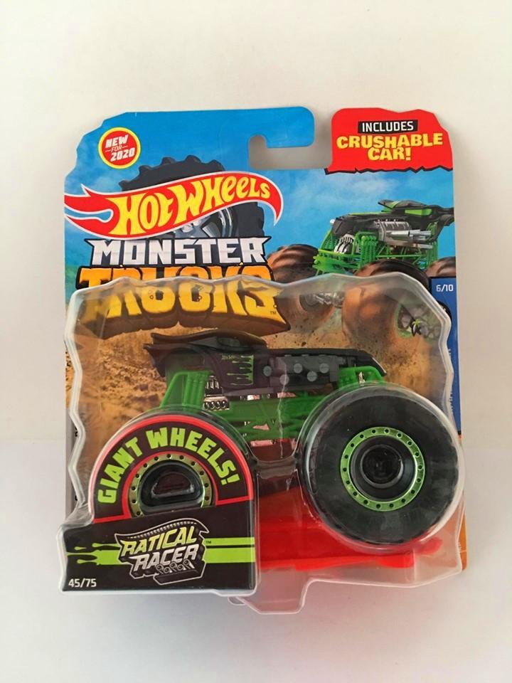 Hot Wheels - Ratical Racer Preto - Giant Wheels - Monster Trucks