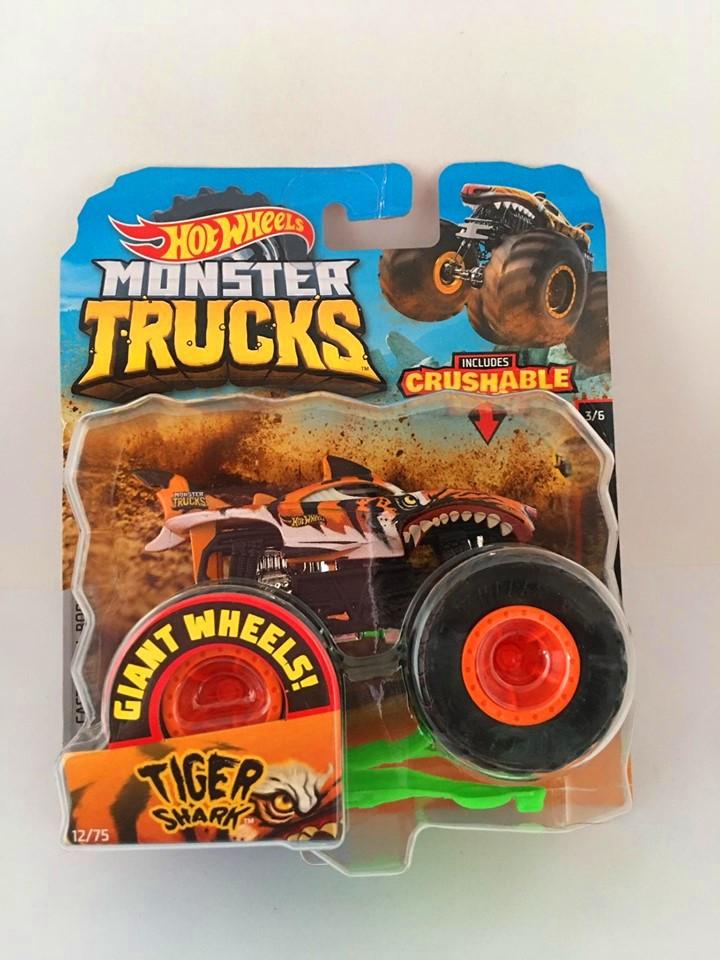 Hot Wheels - Tiger Shark Laranja - Giant Wheels - Monster Trucks