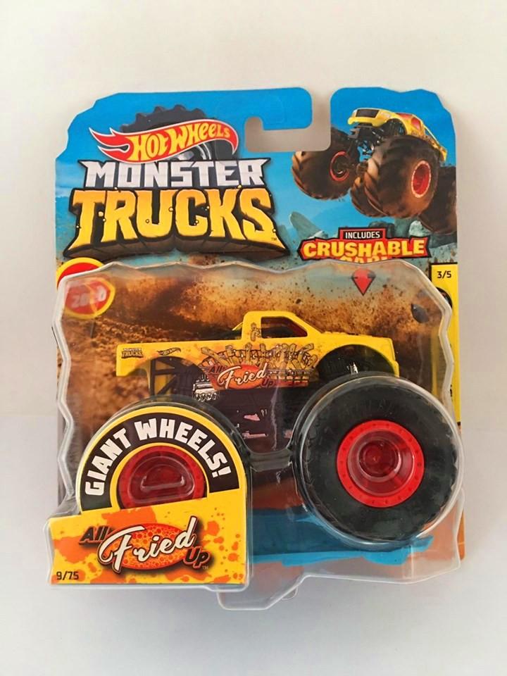 Hot Wheels - All Fried Up Amarelo - Giant Wheels - Monster Trucks