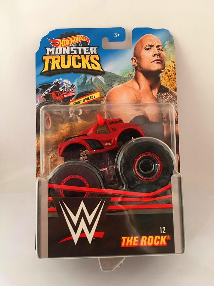 Hot Wheels - The Rock  Vermelho - Giant Wheels - Monster Trucks