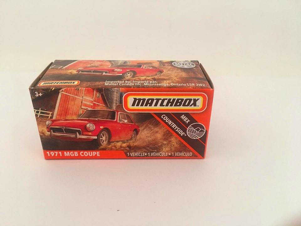 Matchbox - 1971 Mgb Coupe Vermelho - Power Grabs - Básico 2020
