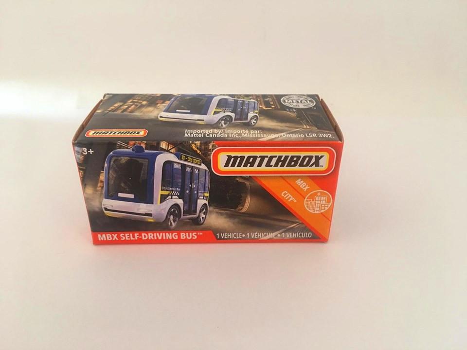 Matchbox - Mbx Self-Driving Bus Azul - Power Grabs - Básico 2020