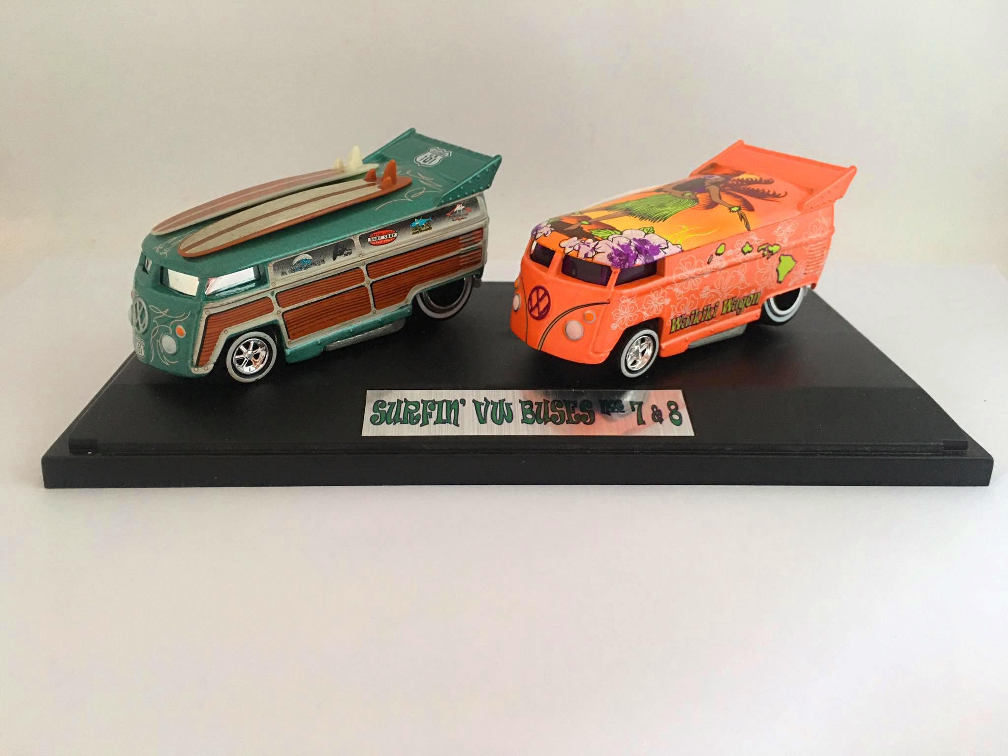 Liberty Promotions - Surfin Series Waikiki Wagon #8 Surfin Series Cal Woodle #7 VW Drag Bus - Limitado em 1300 Peças