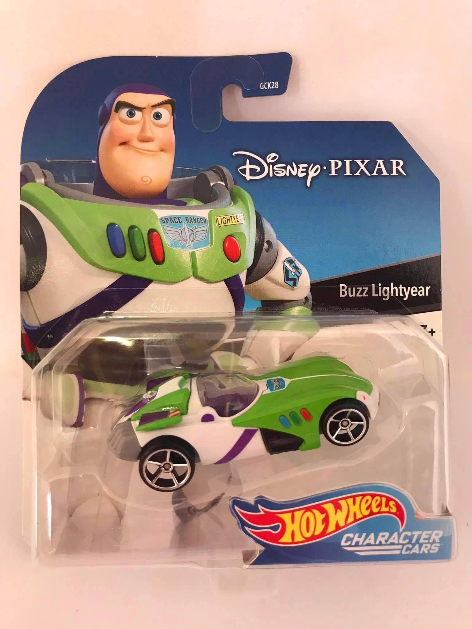 Hot Wheels - Buzz Lightyear Branco/Verde - Disney Pixar - Character Cars