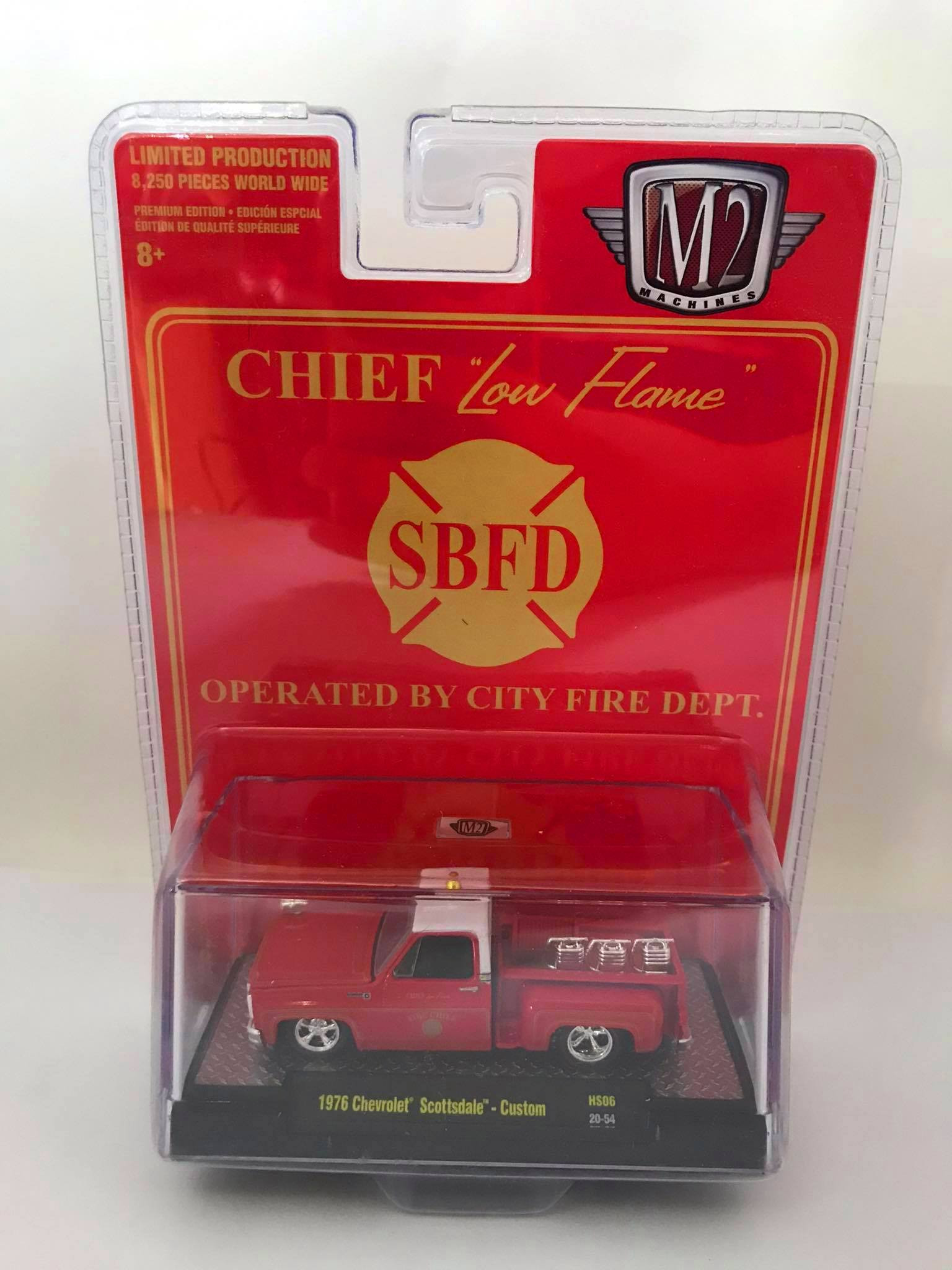 M2 Machines - 1976 Chevrolet Scottsdale - Custom - Chief Low Flame SBFD Operated By City Fire Dept