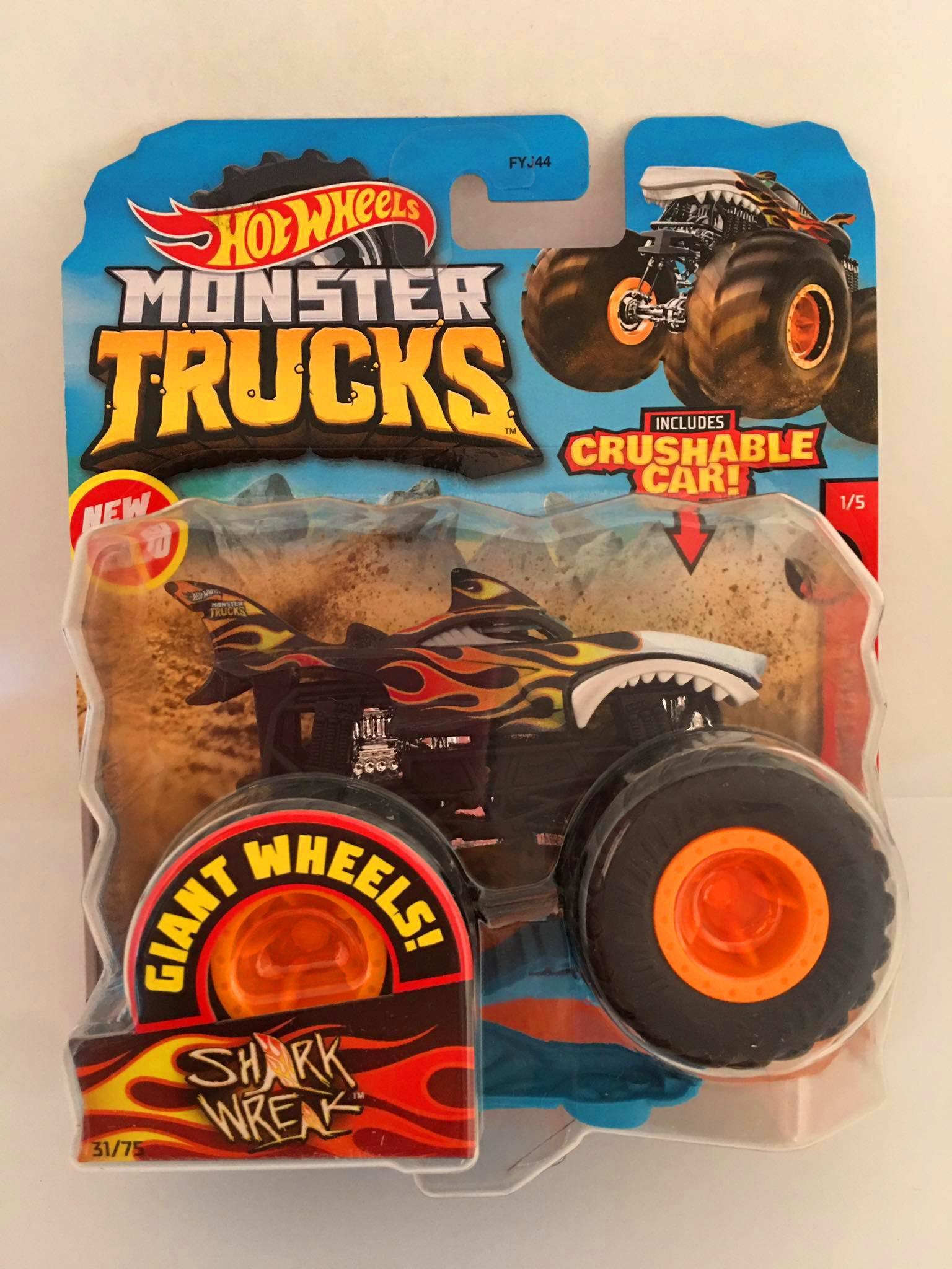 Hot Wheels - Shark Wreak - Giant Whee Preto - Monster Trucks