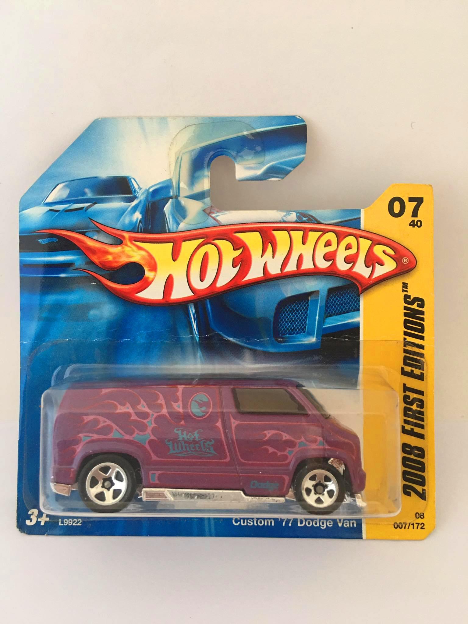 Hot Wheels Custom 77 Dodge Van Roxo Mainline 2008