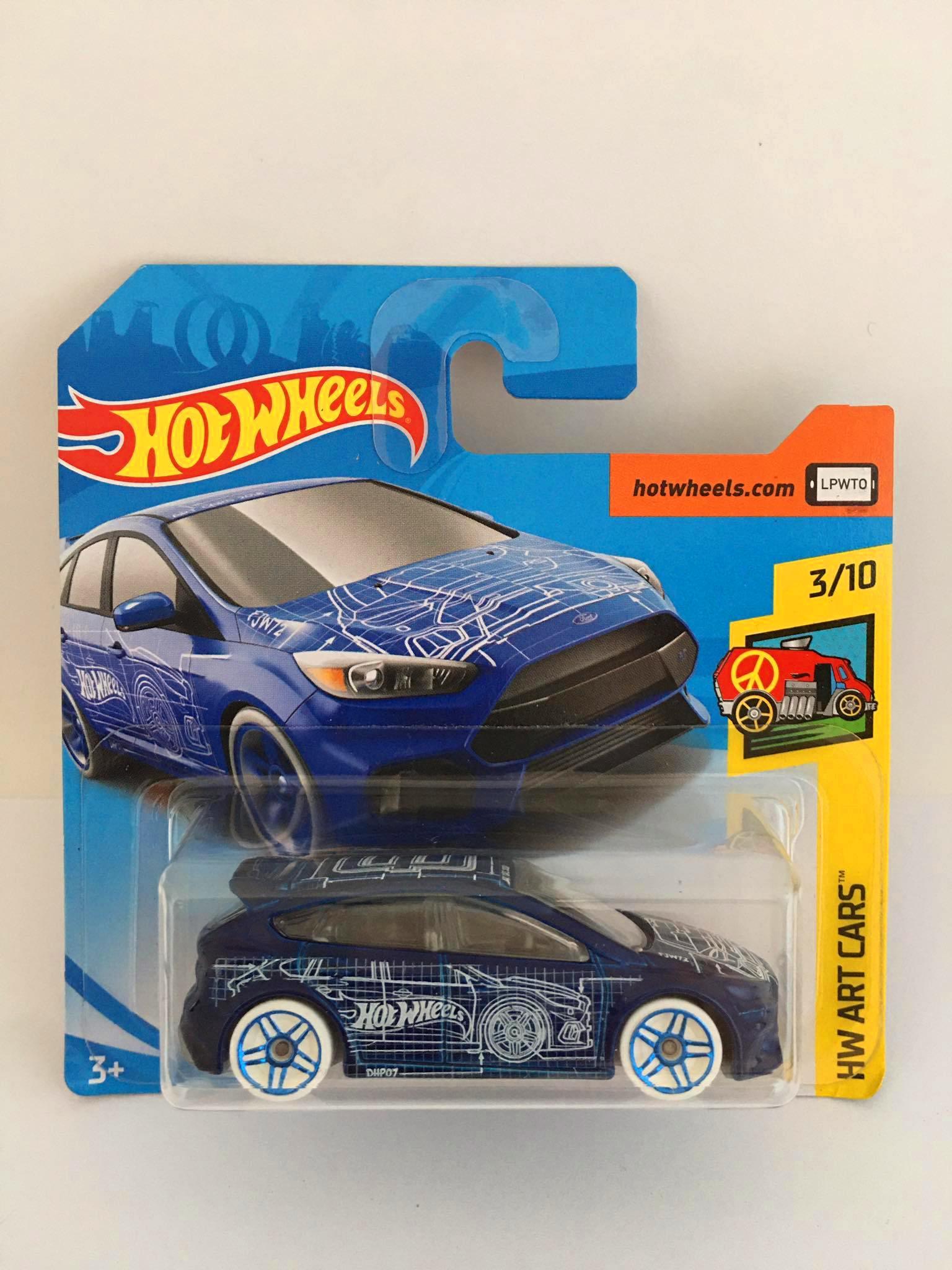 Hot Wheels - Ford Focus Rs Azul - Mainline 2018