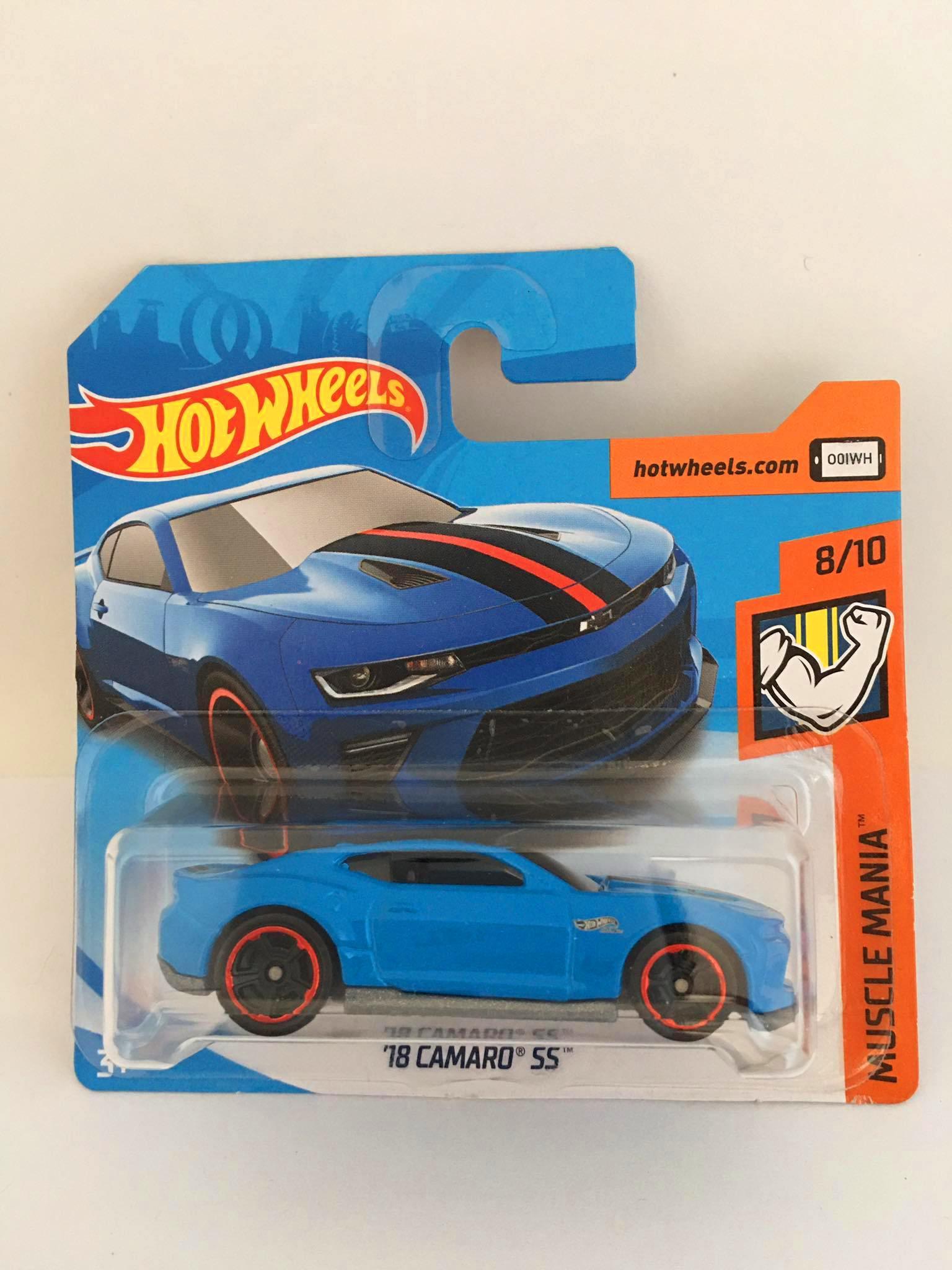 Hot Wheels - 18 Camaro SS Azul - Mainline 2018