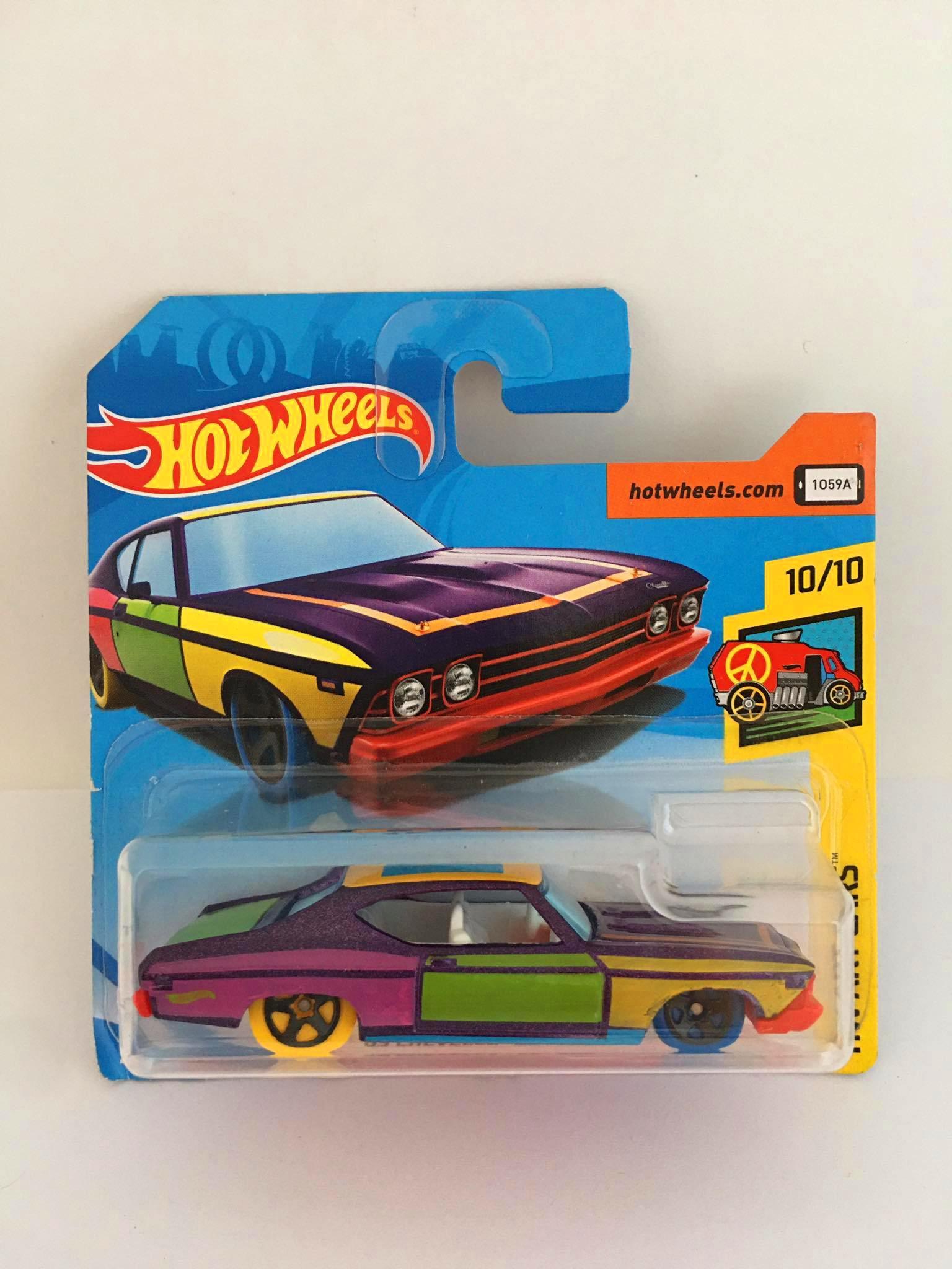 Hot Wheels - 69 Chevelle SS 396 Colorido - Mainline 2018