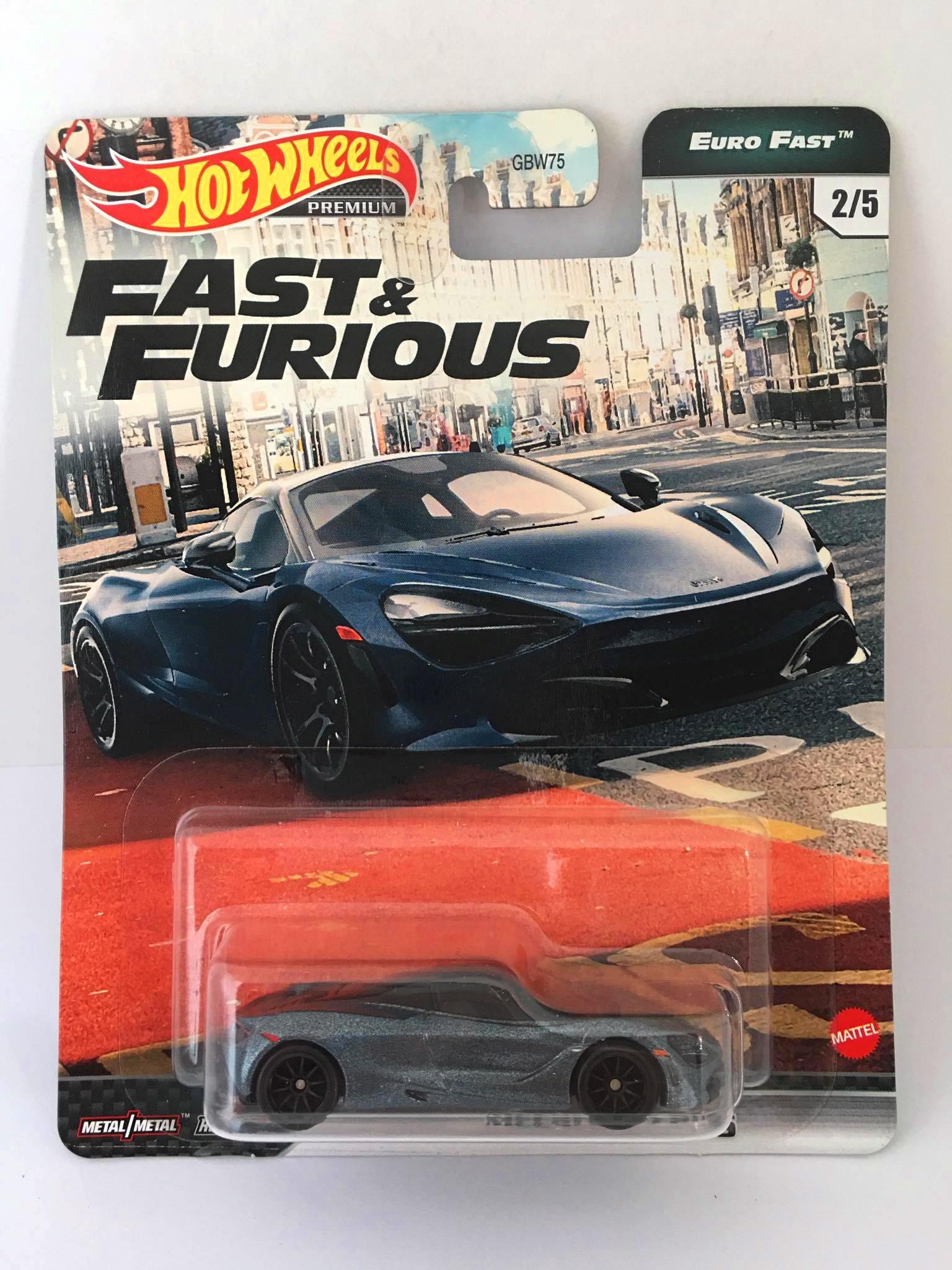 Hot Wheels - MCLaren 720S Cinza - Fast e Furious - Euro Fast