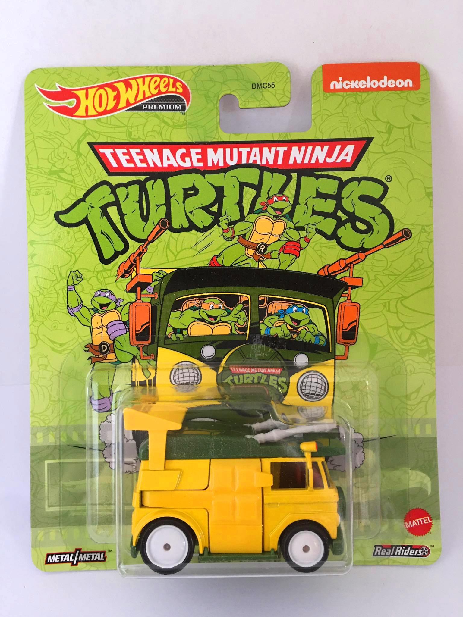 Hot Wheels - Party Wagon Amarelo - Mutant Ninja Turtles - Tartarugas Ninja - Retro Mix T