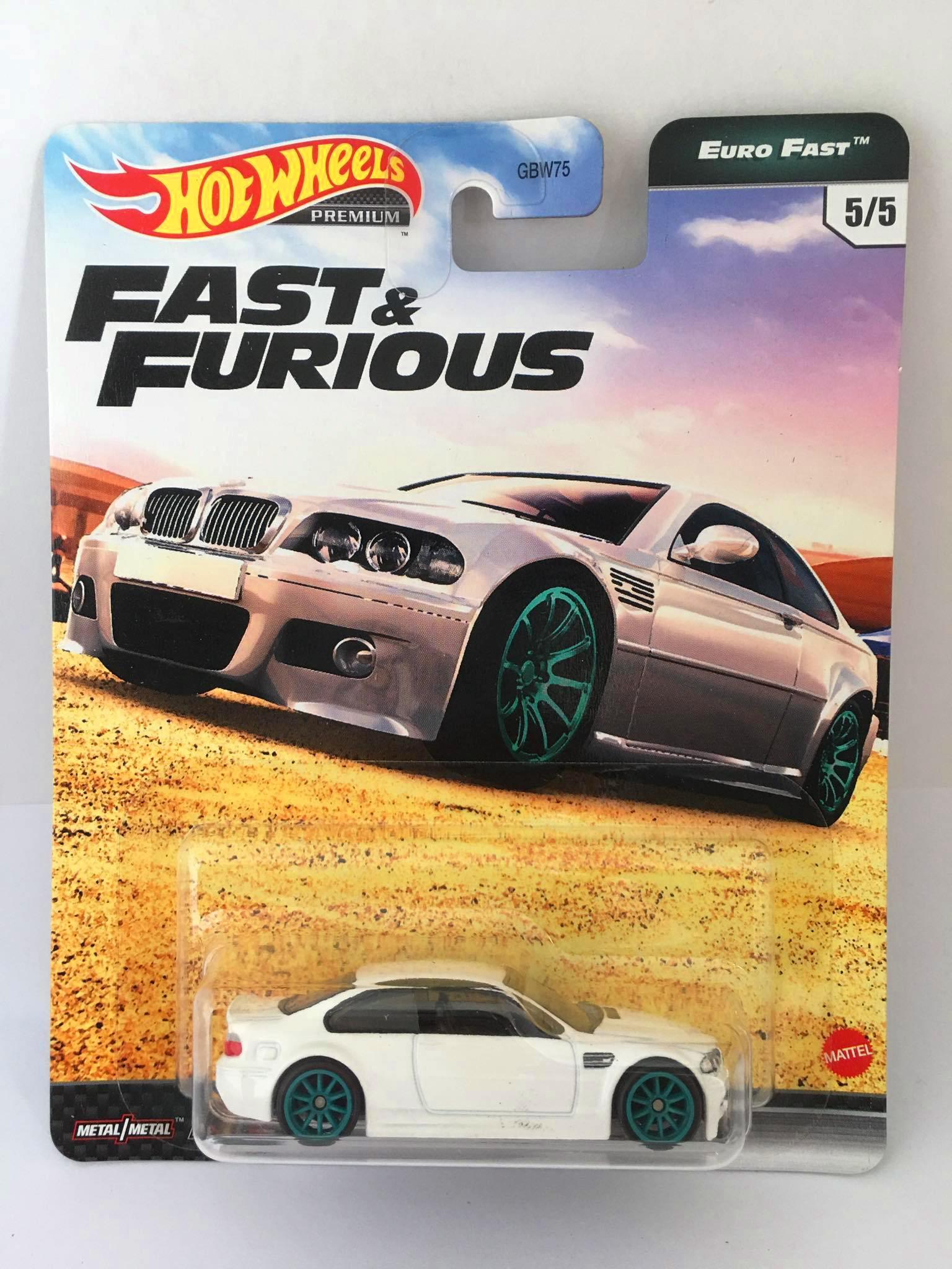 Hot Wheels - BMW M3 E46 Branco - Fast e Furious - Euro Fast