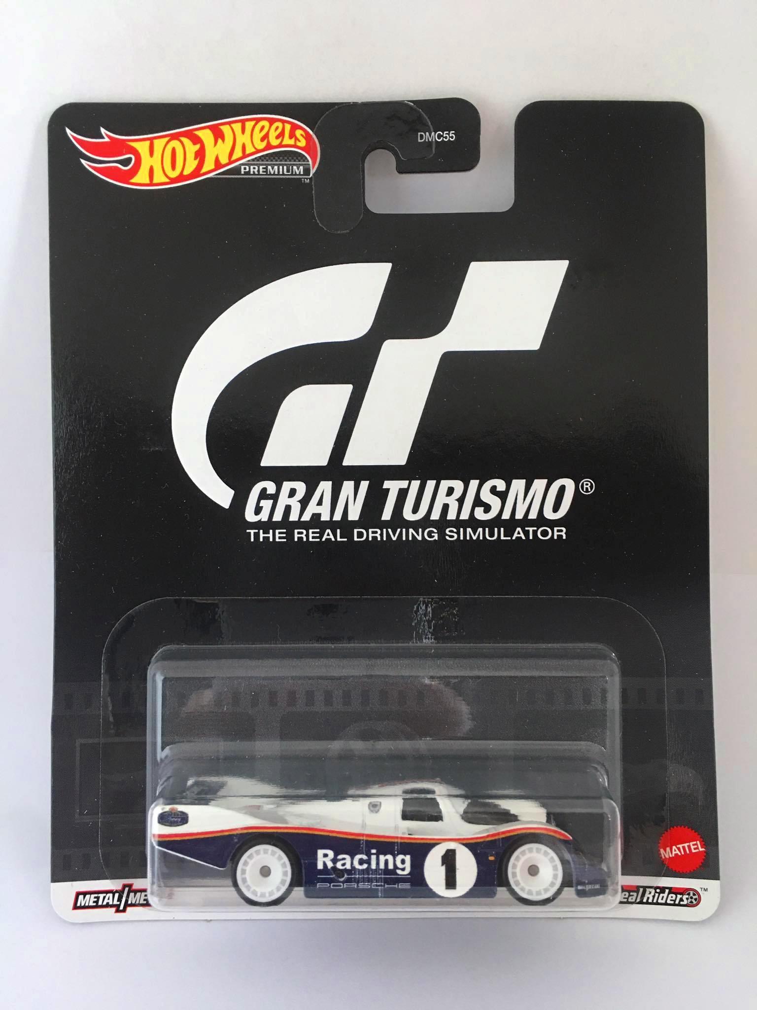 Hot Wheels - Porsche 962 Azul/Branco - Gran Turismo - Retro Mix T