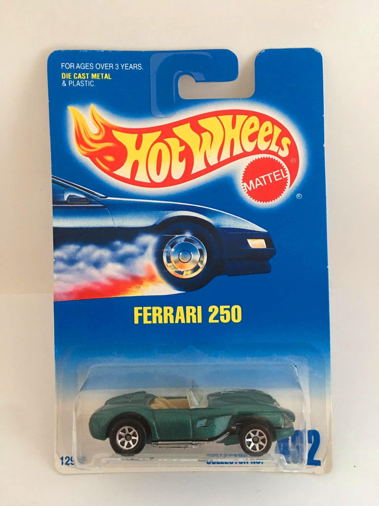 Hot Wheels - Ferrari 250 Verde - Roda 7SP - Mainline 1992