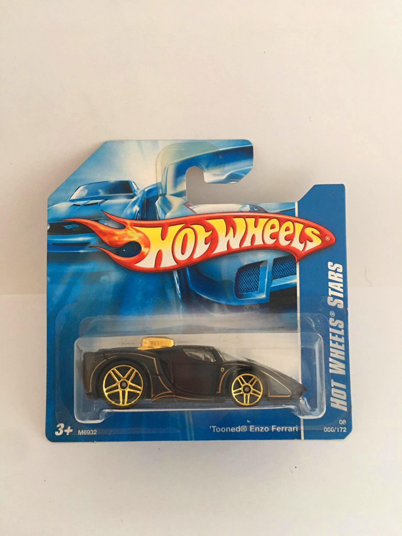 Hot Wheels - Tooned Enzo Ferrari Preto - Mainline 2008