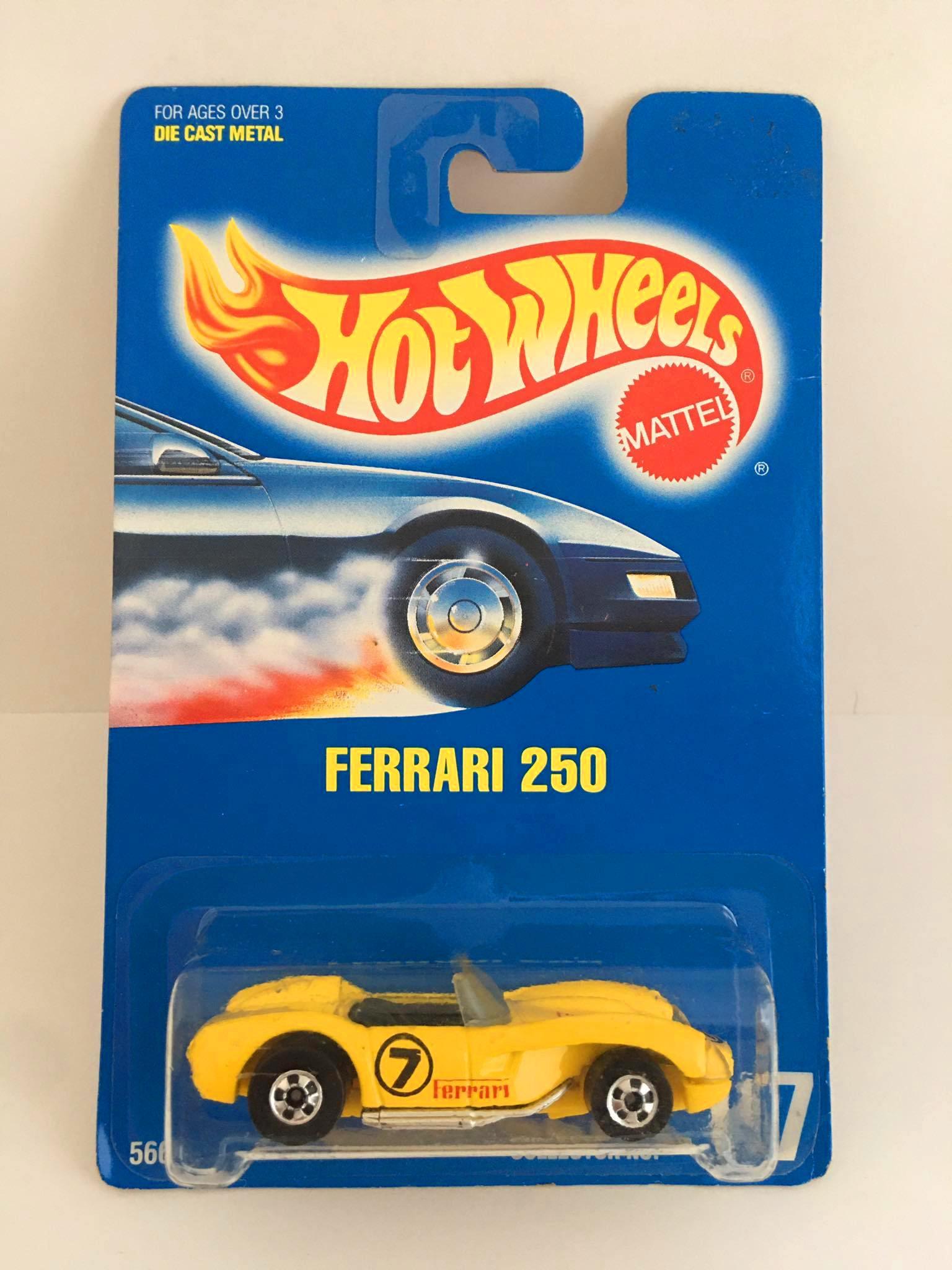 Hot Wheels - Ferrari 250 Amarelo - Mainline 1992