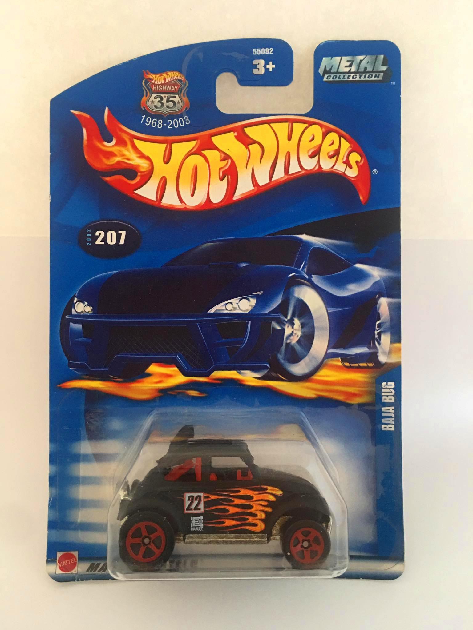 Hot Wheels - Baja Bug Preto - Metal Collectors - Mainline 2003