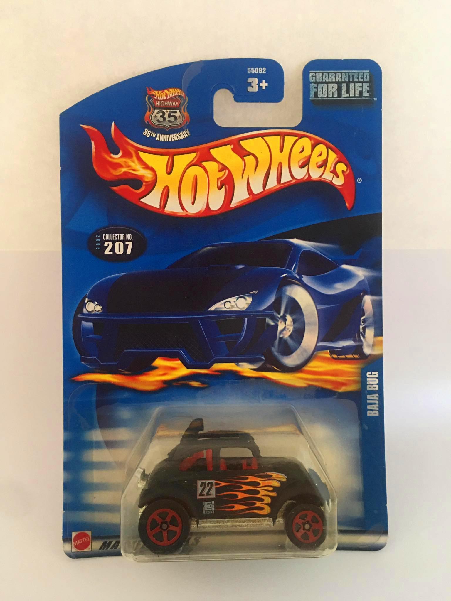Hot Wheels - Baja Bug Preto Cartela For Life - Mainline 2003