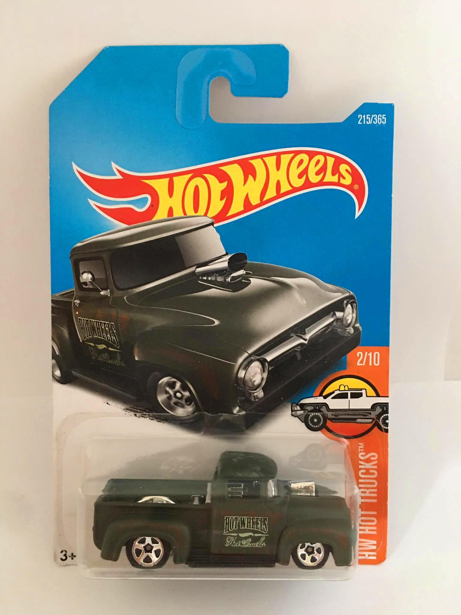 Hot Wheels - Custom 56 Ford Truck Verde - Mainline 2017