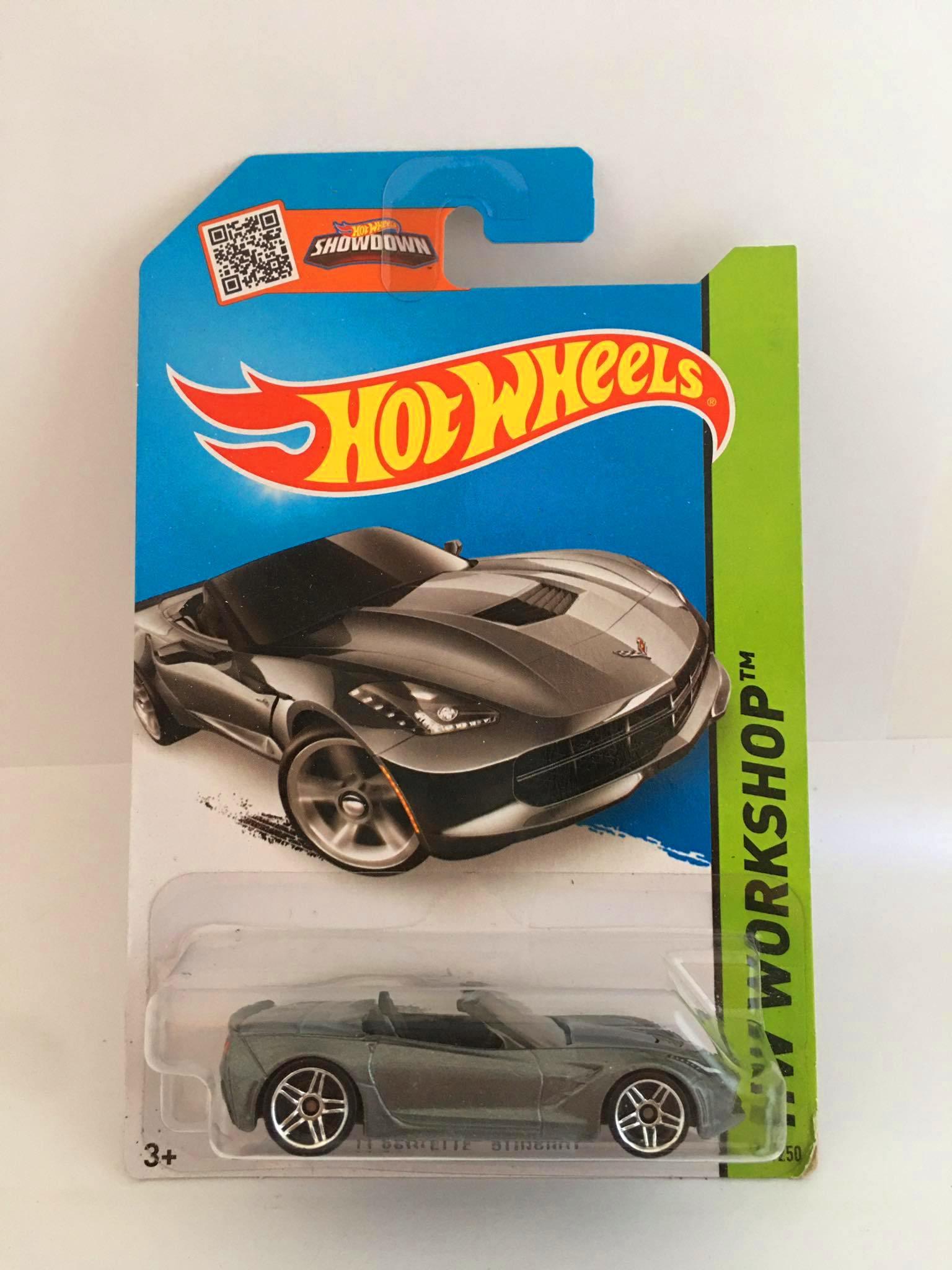 Hot Wheels - 14 Corvette Stingray Cinza - Mainline 2014