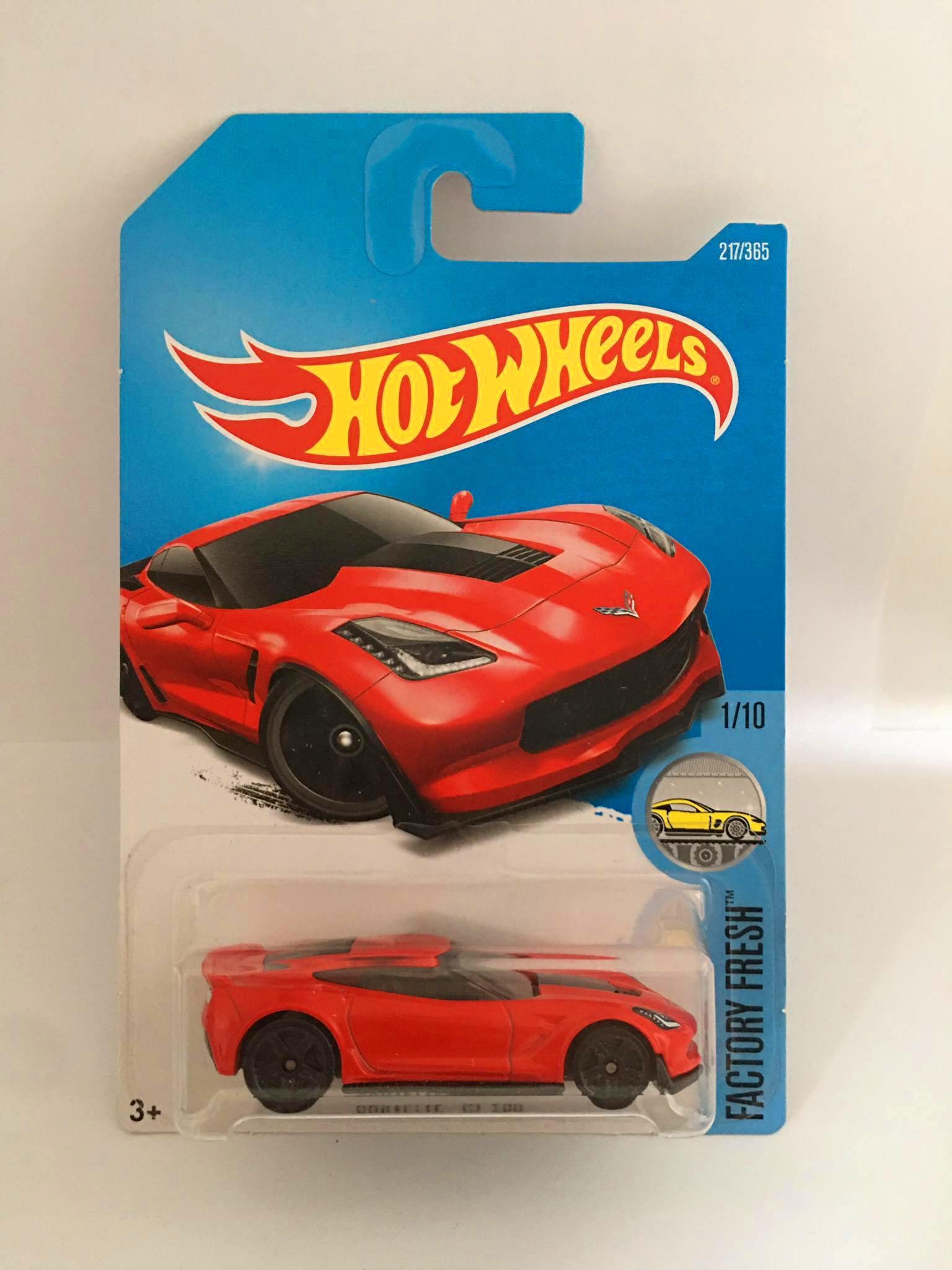 Hot Wheels - Corvette C7 Z06 Vermelho - Mainline 2017