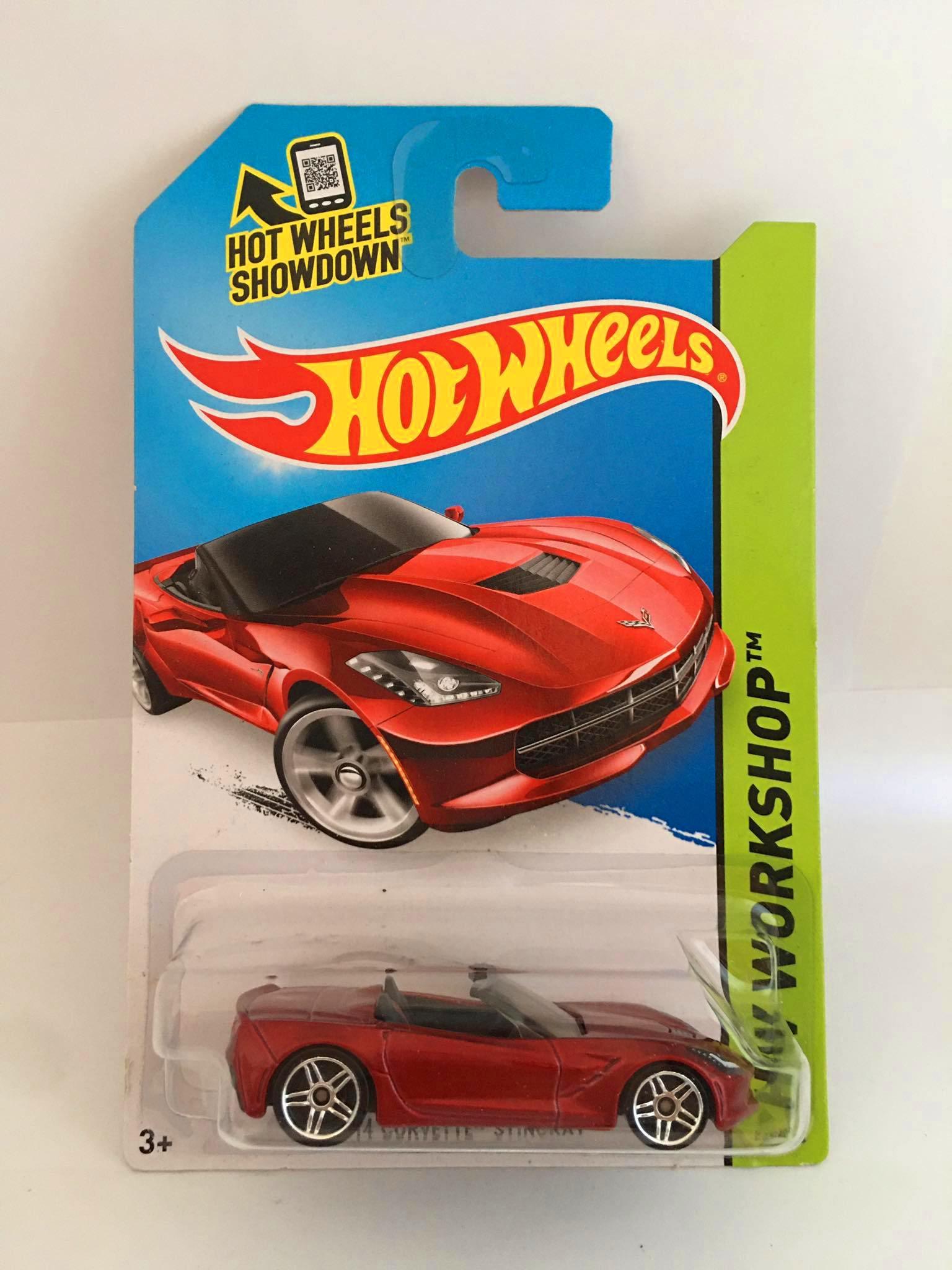 Hot Wheels - 14 Corvette Stingray Vermelho - Mainline 2014