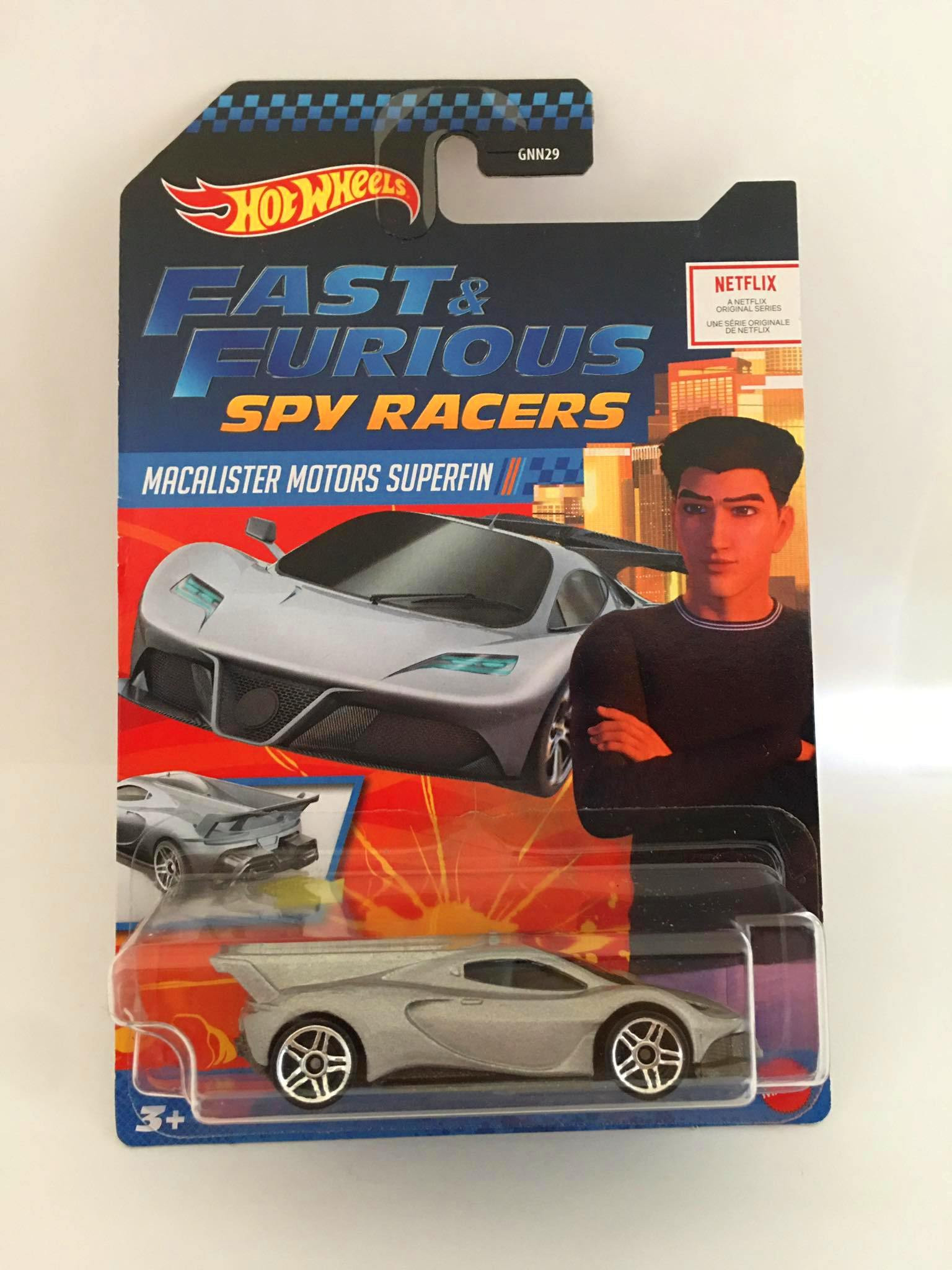Hot Wheels - Macalister Motors Superfin Cinza - Fast & Furious Spy Racers