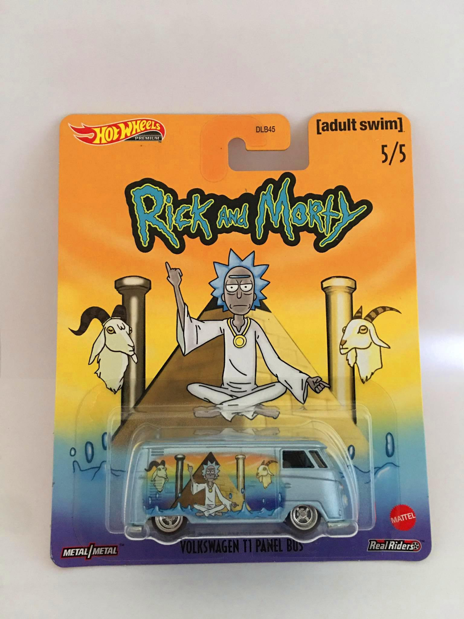 Hot Wheels - Volkswagen T1 Panel Bus Cinza - Rick and Morty