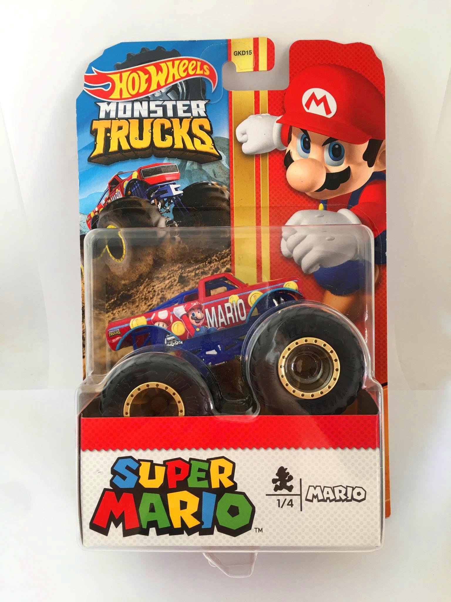 Hot Wheels - Super Mario Vermelho - Monster Trucks