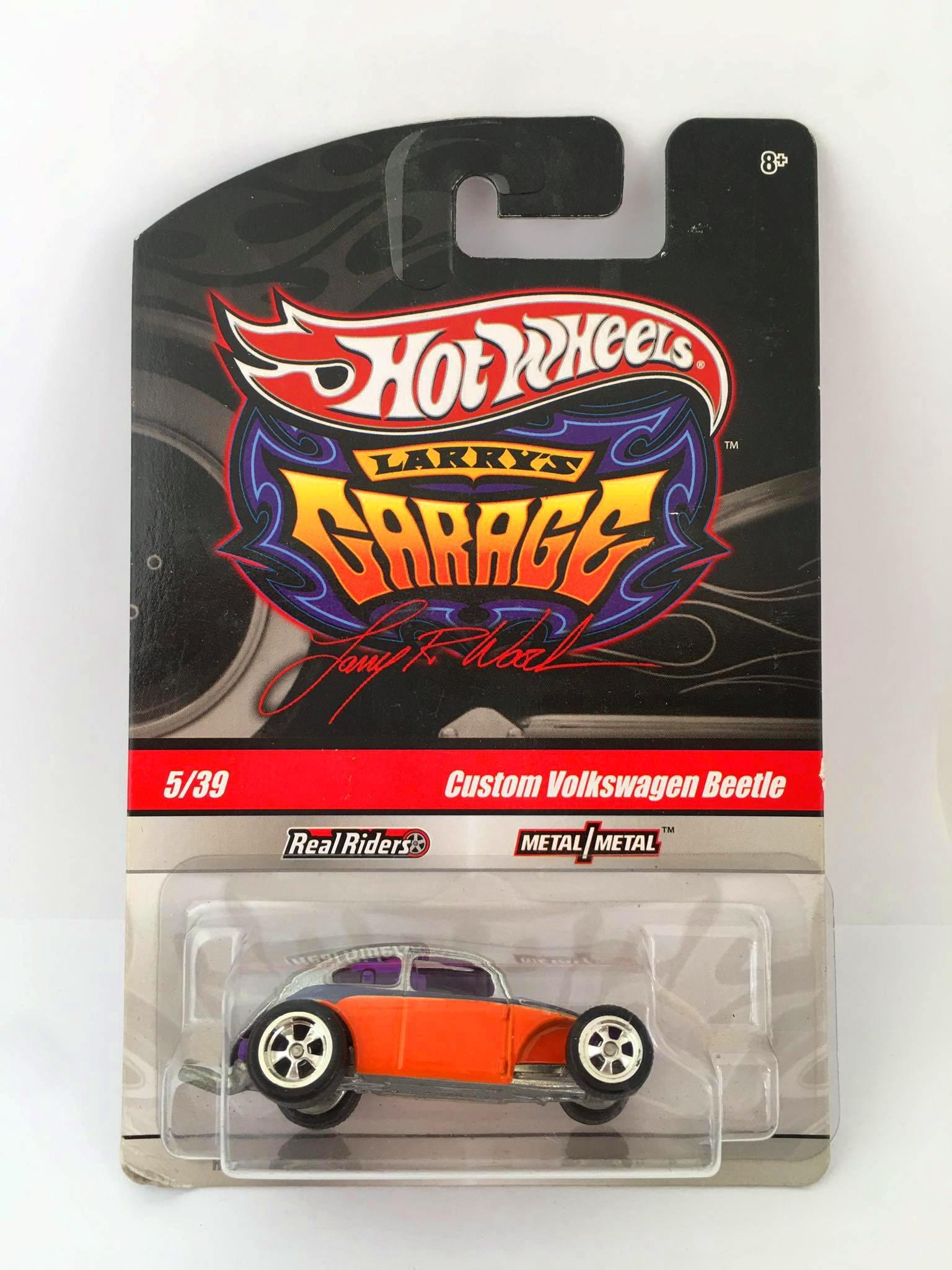 Hot Wheels - Custom Volkswagen Beetle Laranja - Garage - CHASE