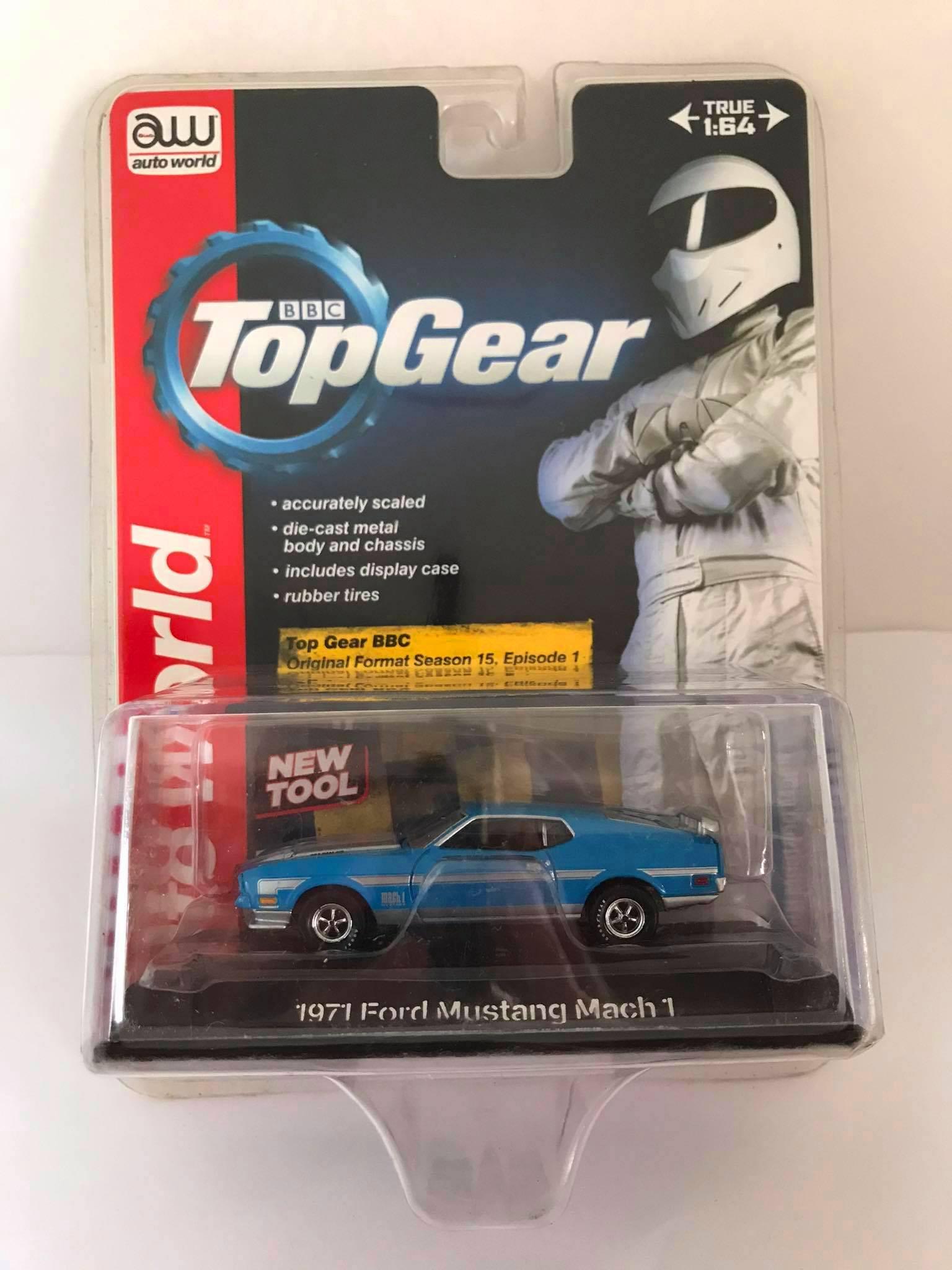 Auto World - 1971 Ford Mustang Mach 1 Azul - BBC Top Gear