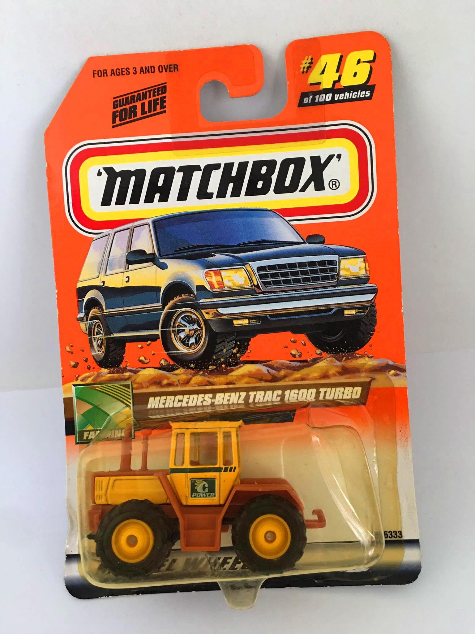 Matchbox - Mercedes-Bens Trac 1600 Turbo Amarelo - Básico 2000